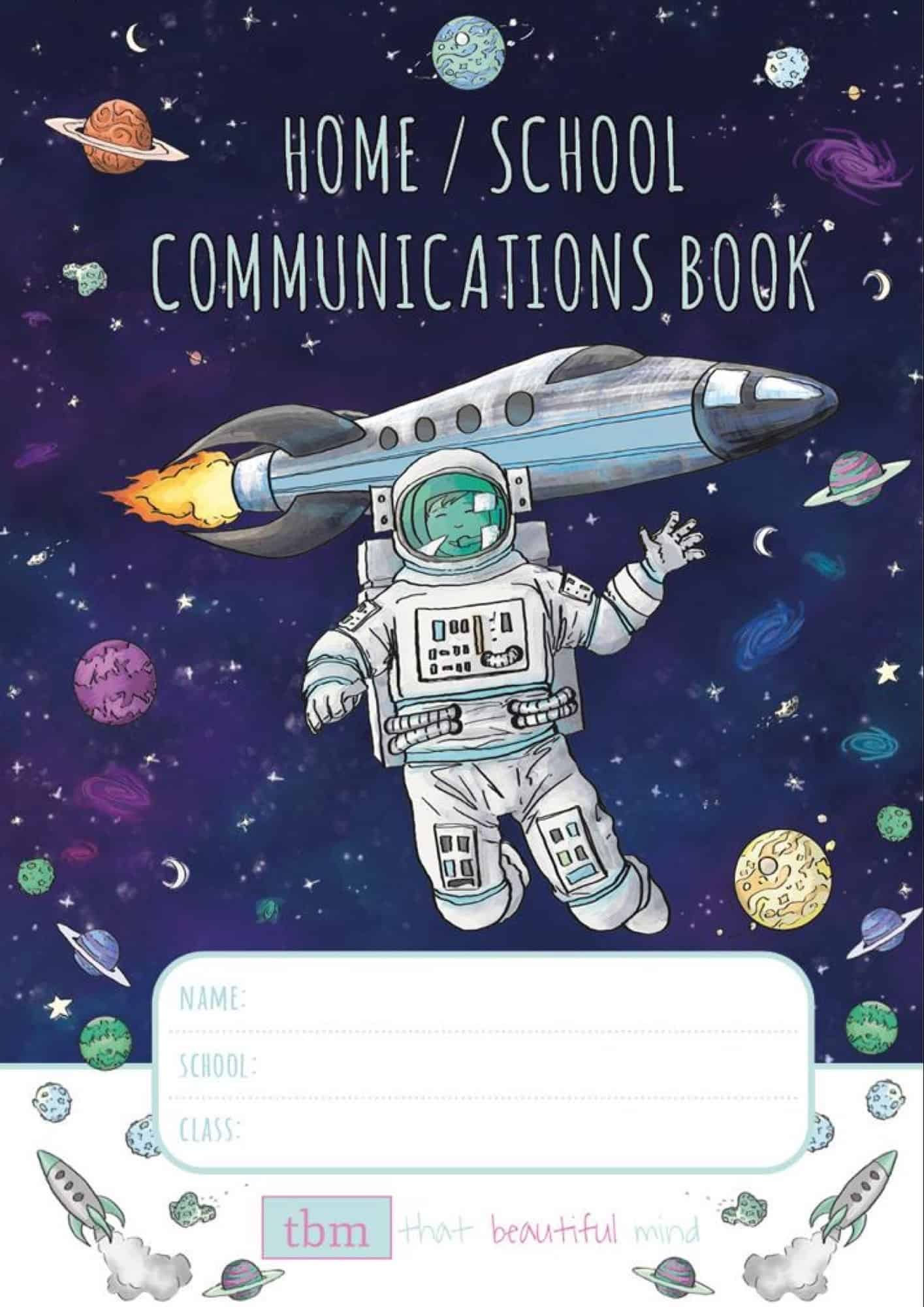 home school communications book space edition