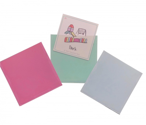 gecko pockets pink green blue with card